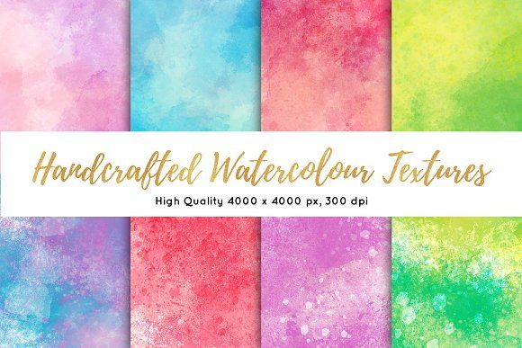 Handcrafted Watercolor Textures by Silver Wolf Designs on @creativemarket