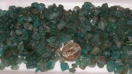 Neon Blue Apatite Faceting Rough, 1#, I'm willing to sell this, message me if you're interested