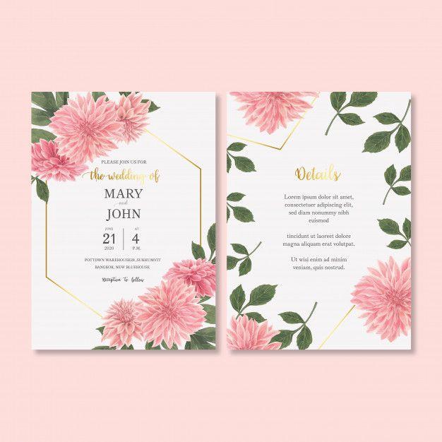 Baixe Convite De Casamento Com Folhagem Romantica Gratuitamente Wedding Invitations Free Wedding Wedding