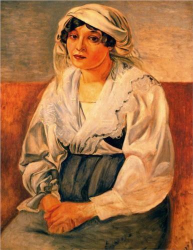 Italian girl - Andre Derain, 1923.  Art Experience NYC  www.artexperiencenyc.com