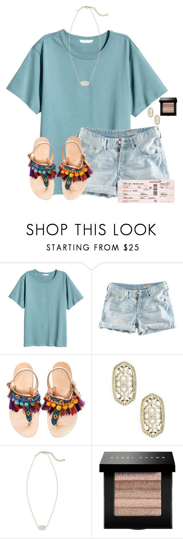 """Going to Kentucky this Summer with my best friend!!"" by flroasburn ❤ liked on Polyvore featuring H&M, Elina Linardaki, Kendra Scott and Bobbi Brown Cosmetics"
