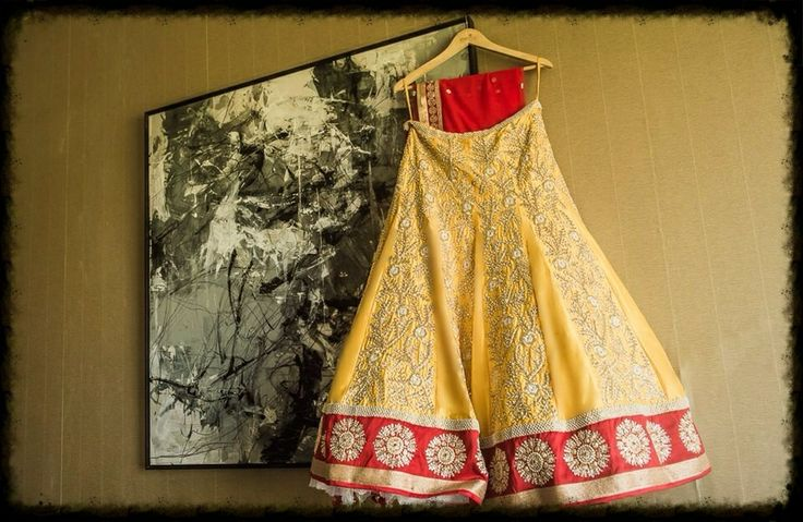 Chamee  Palak - Daffodil Yellow Silk Lehenga, customized for our Bride, Aini Karani.