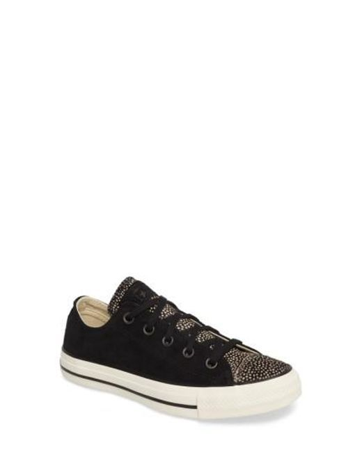 Converse | Black Chuck Taylor All Star Ox Genuine Calf Hair Sneaker | Lyst