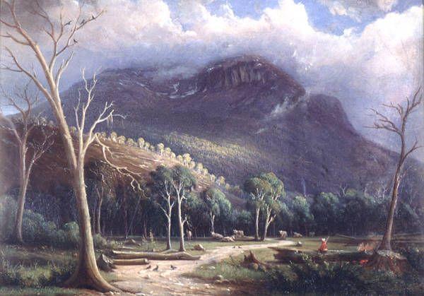 Knut Bull, 'Mount Wellington, Tasmania', 1856