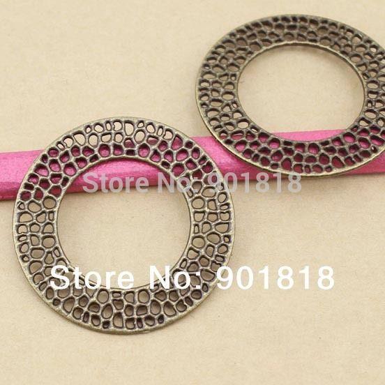 Металлические подвески ювелирные изделия DIY 10 шт./лот полое кольцо античная бронзовая подвеска F943