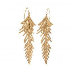 Thuja in brass. Christmas time is coming and those earrings are perfect for gift! THUJA collection by Anna Orska.