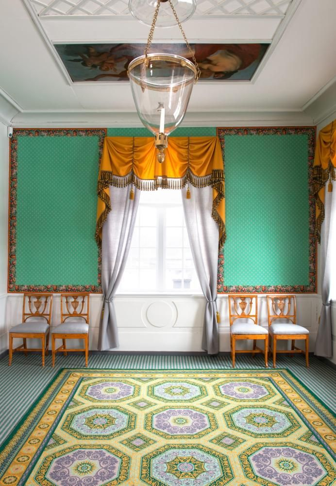 Corner Room - Eidsvollsbygningen is a historic Manor House in Eidsvoll in Norway, where the Constitution of Norway was made and signed on 17 May 1814. Photo: Espen Grønli