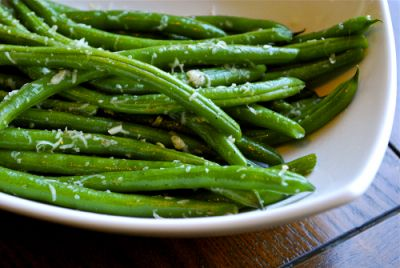 Parmesan Green Beans, one of my favorite veggie recipes.