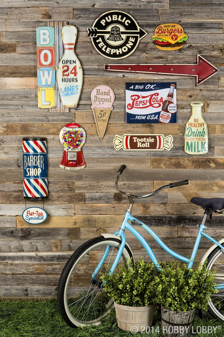 Step back in time with our classic metal signs! This always-in-style décor will add retro flare to your home or office.