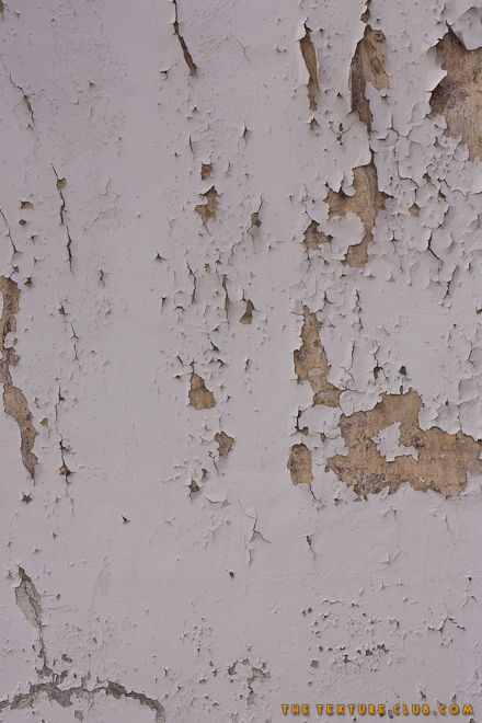 Flaking white painted wall