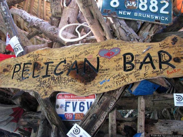 Top 10 Beach Bars: Pelican Bar, Negril, Jamaica. Resting on stilts on a sand bank off the shore of Treasure Beach, Pelican Bar looks like something straight out of the Pirates of the Caribbean.