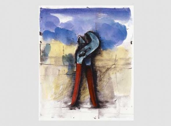 Jim Dine - Ten Hand-Colored Winter Tools II, 1973-1989, A set of 10 hand coloured lithographs, Paper 76.2 x 55.9 cm, Edition of 18