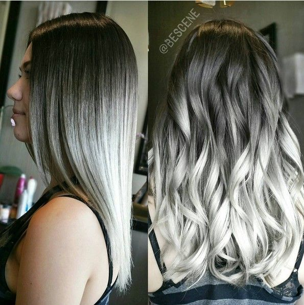 Somked Out Silver Ombre Hairstyle