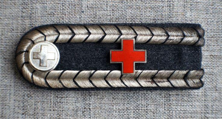Погон - Санитар - Красный крест - 3 Рейх - Оригинал.