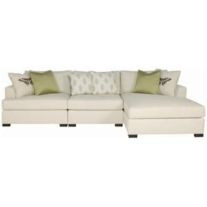 Adriana sectional sofa with chaise lounger by bernhardt at for Bernhardt chaise