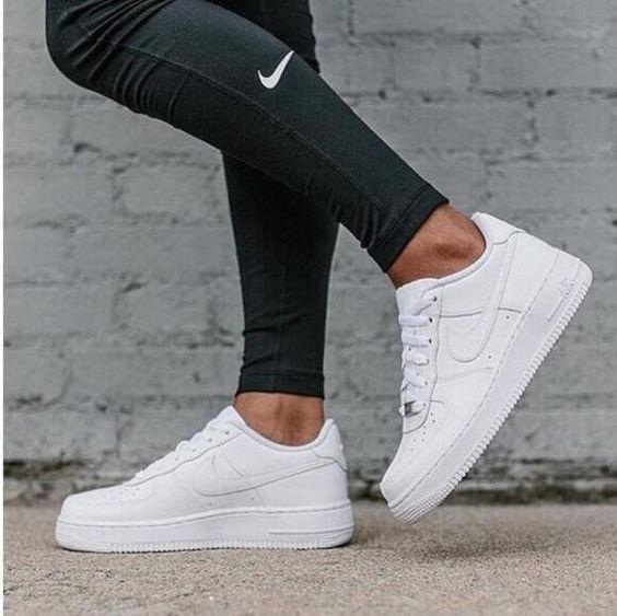 Zapatillas deportivas para correr deportivas para hombres Zapatillas deportivas para mujer Air Force White – F … – S …   – Mode Schuhes