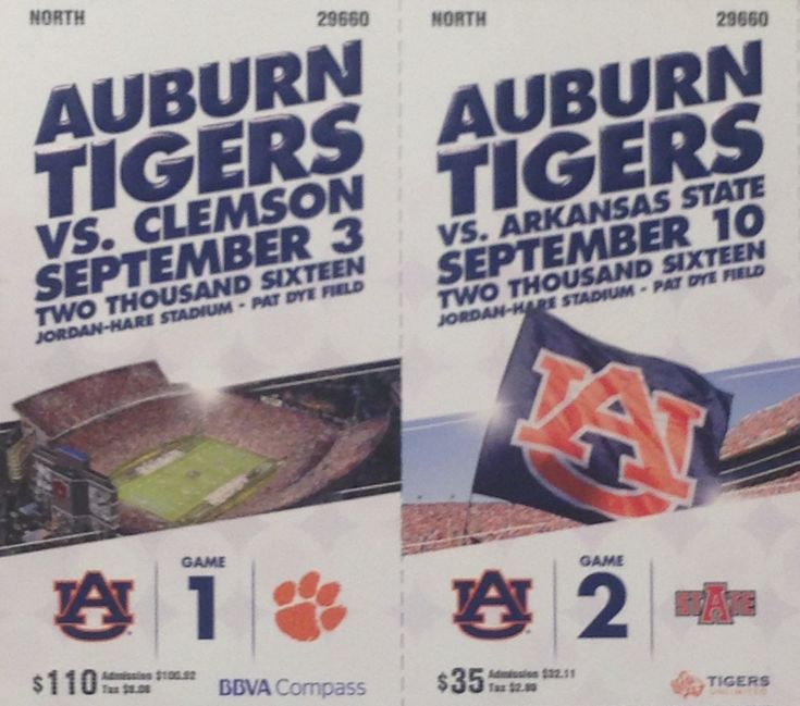 Auburn football tickets on pinterest football gift alabama football