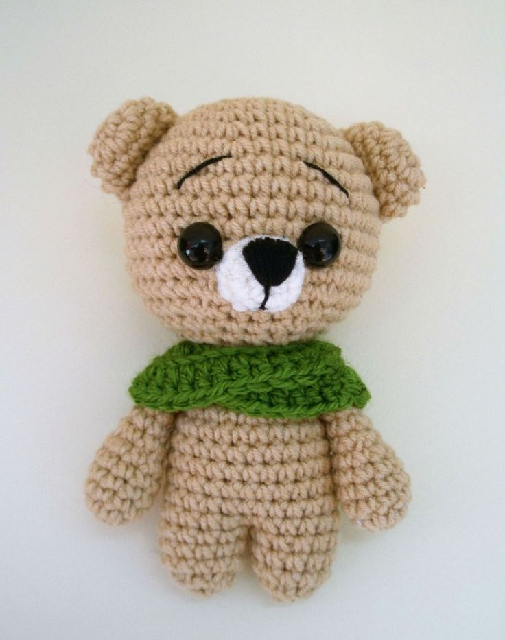Free crochet animal patterns - teddy bear amigurumi