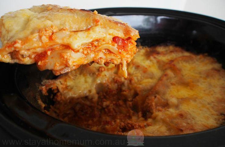 Slowcooker Lasagna   Stay at Home Mum #slowcooker #lasagna