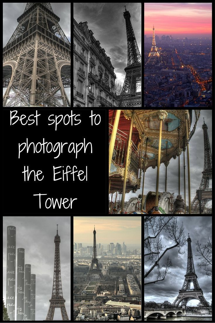 Update! - Best spots to photograph the Eiffel Tower - Paris France