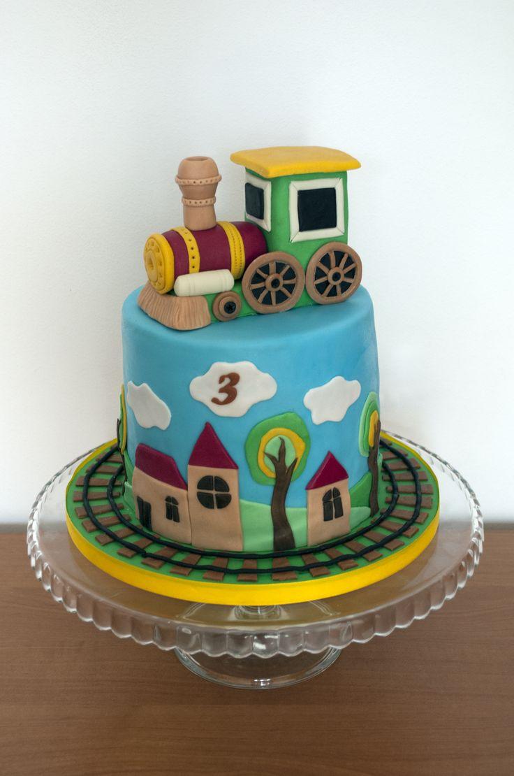 Dort s mašinkou. Cake with train.