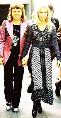 Björn Ulvaeus and Agnetha Fältskog, ABBA in 1974.