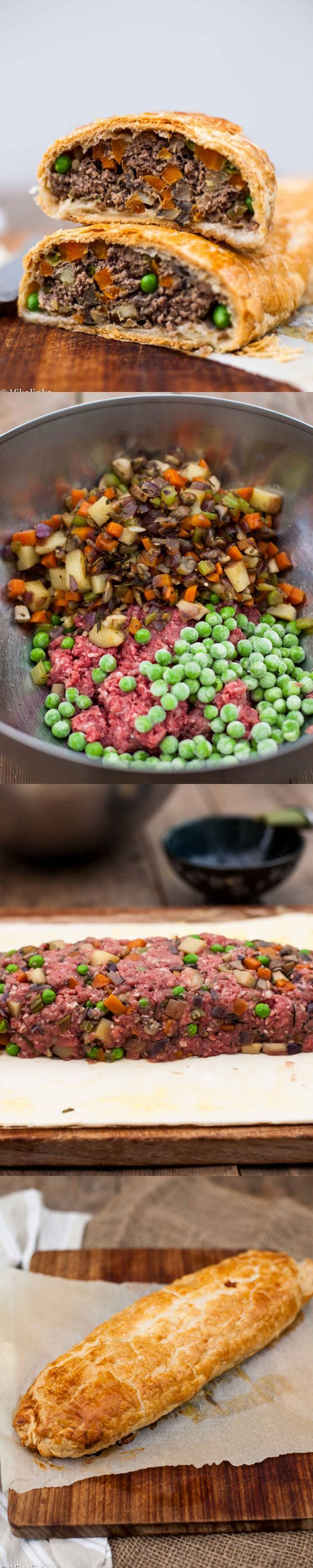 Ground Beef Wellington - the most elegant and the best tasting meat loaf you will ever eat!