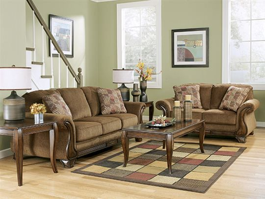 wall color with brown couch