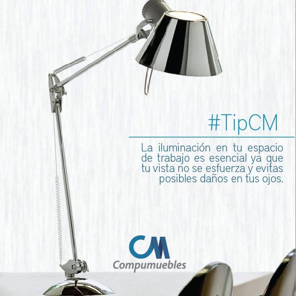 No esfuerces tu vista y establece tu espacio con la luz adecuada. www.compumuebles.com