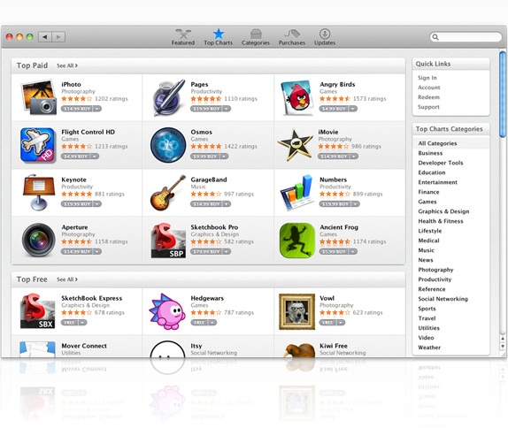 Find educational apps from Apple's app store... http://www.apple.com/mac/app-store/