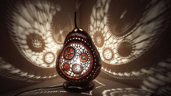 THANKSGIVING DAY Gourd lamp art deco handcrafted Ottoman