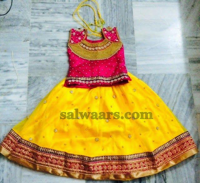 Zardosi Work Yellow Skirt