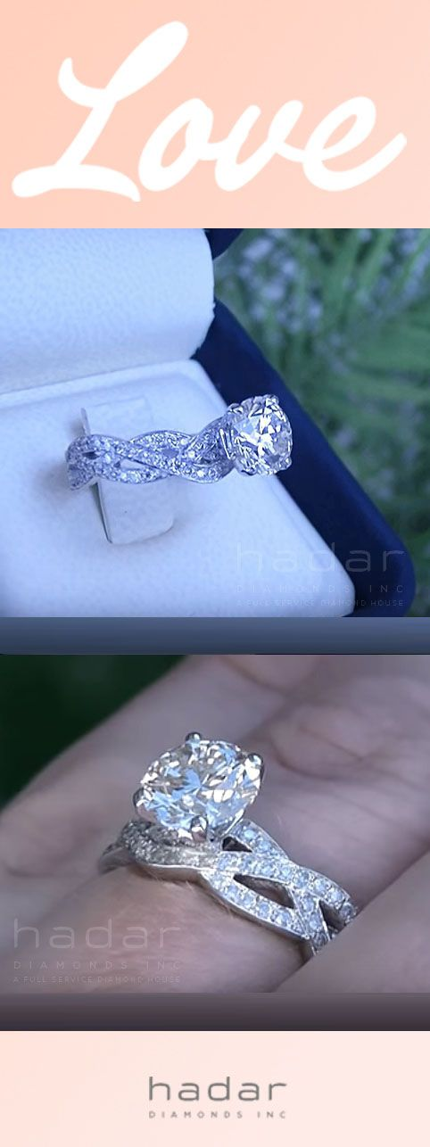 Braided Diamond Engagement Ring by HadarDiamonds.com . Actual video available. Ideal for a Valentine's Day Diamond Engagement Ring.