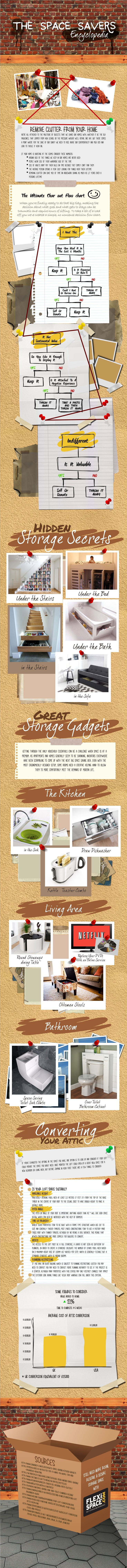 The 7 Principles of Decluttering Your Home #declutter #organization #organize #inforgraphic