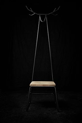 Hjörtr hallstand is a multifunctional, modern and Nordic inspired hallstand combining chair, coat racks and a hunting trophy into one unit.            The idea behind the hjörtr hallstand was to create a piece of hall furniture, which would fit in a small and narrow hallway, but still would allow room to hang one's jacket and sit to take shoes on and off.  Hjörtr hallstand is built around a metal structure made of 20 mm steel tubes, which are powder-coated in charcoal gray. The choice of…