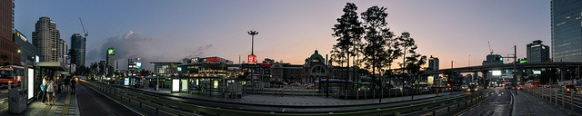 Seoul Station Sunset Panorama, click to view large