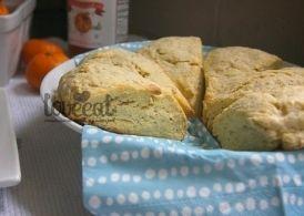 Апельсиновые булочки-сконы с маком