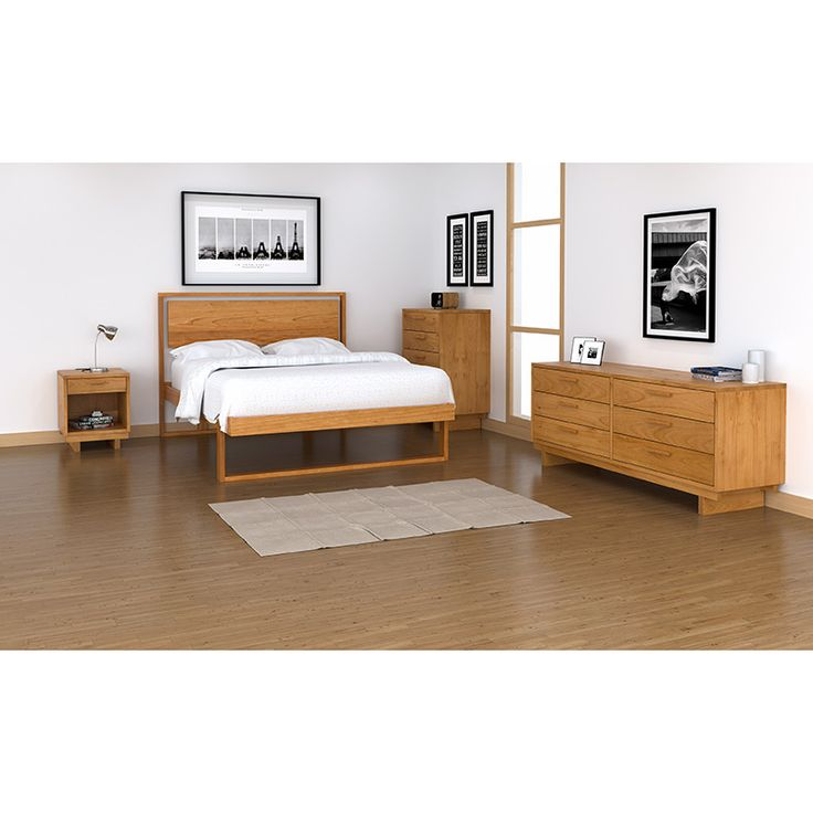 our pendant bed is just simple modern design crafted to suit your style home solid wood vermontmade eco friendly - Solid Wood Platform Bed