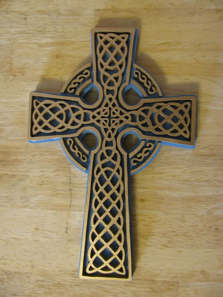 Gold Layered Celtic Cross $55