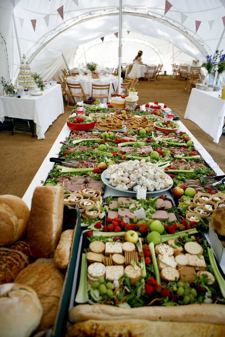 Picnic wedding - maybe different food, but I love the idea.