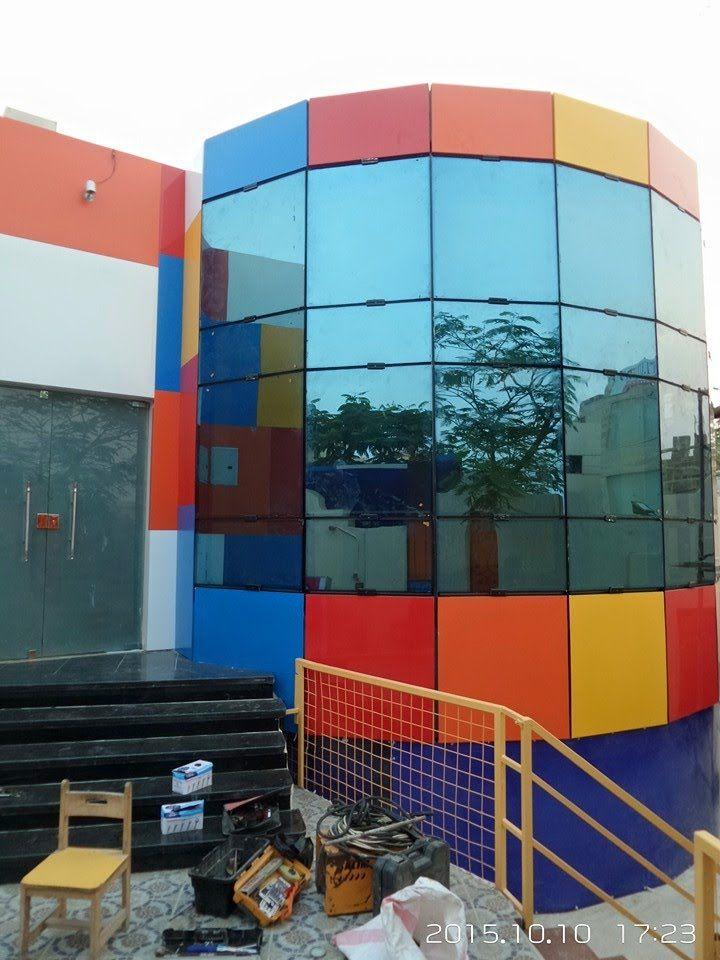 واجهات زجاج زجاج واجهات للفلل و المباني 01221570260 Shop Logo Outdoor Decor Cladding
