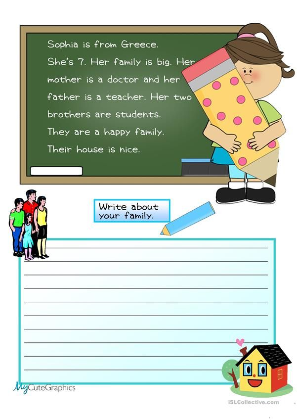 Creative Writing My Family Composition Beginner 4 Worksheet Free Esl Printable Worksheets Made By Teachers Creative Writing Writing Paper Writing Service
