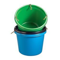 Fortiflex Round Feeder Tub - Black by Fortex Industries Inc.. $14.95. 30 quart round feeder tub is made with strong mounting hardware. Includes attached S hooks or snaps for installation. Blue, Black, or Kelly Green.