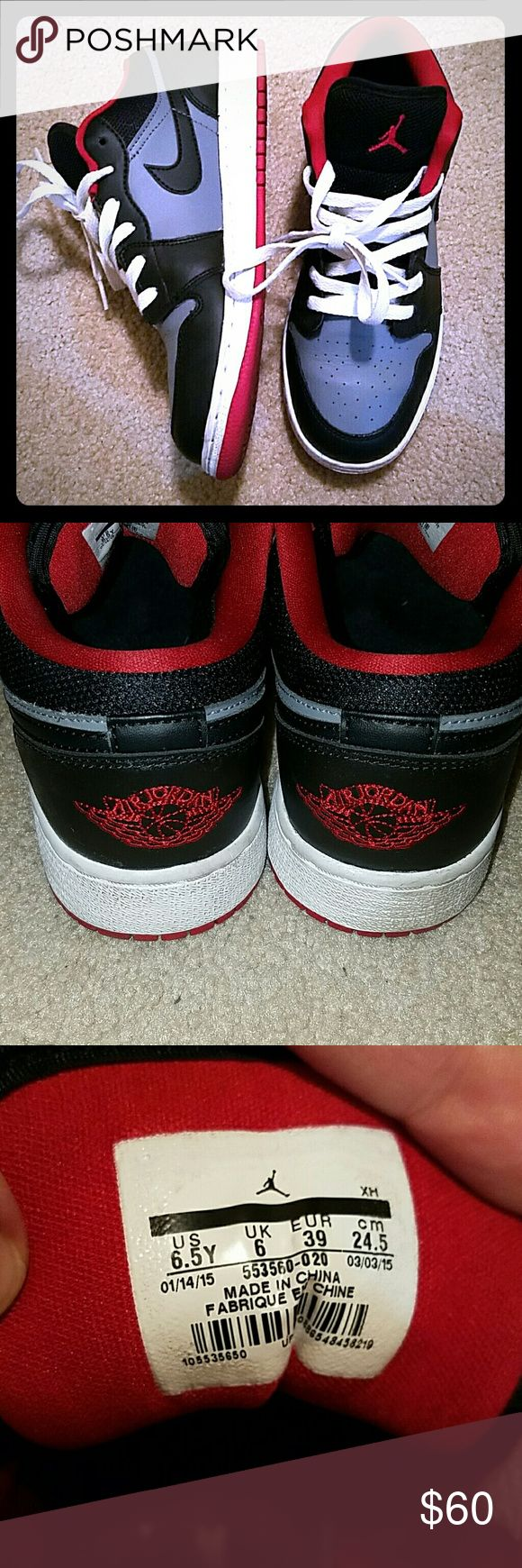 Nike Air Jordan's low top Worn but in GREAT condition | barely any creases | name brand Nike | does not come with original box or any shoe box Jordan Shoes Sneakers