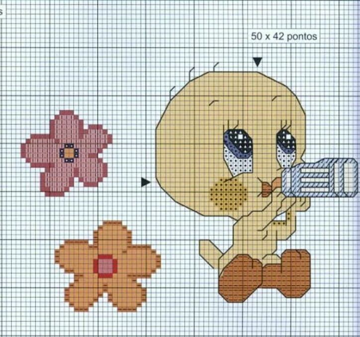 Schema punto croce Titti4