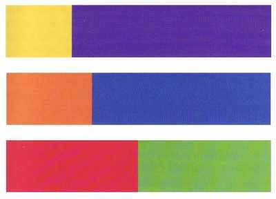"""Harmonious proportions of areas for complementary colors"" -- Johannes Itten"