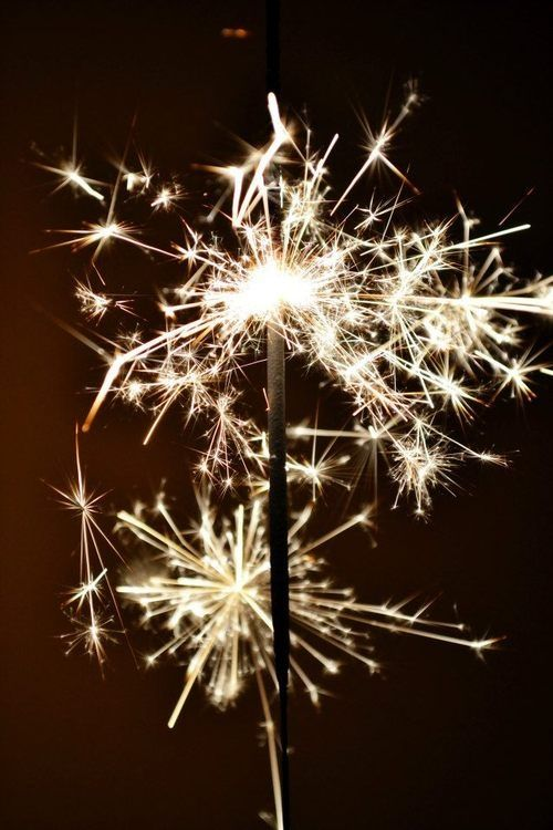 (Ana Rosa)  Think about sparklers and how they made me feel as a child...slj