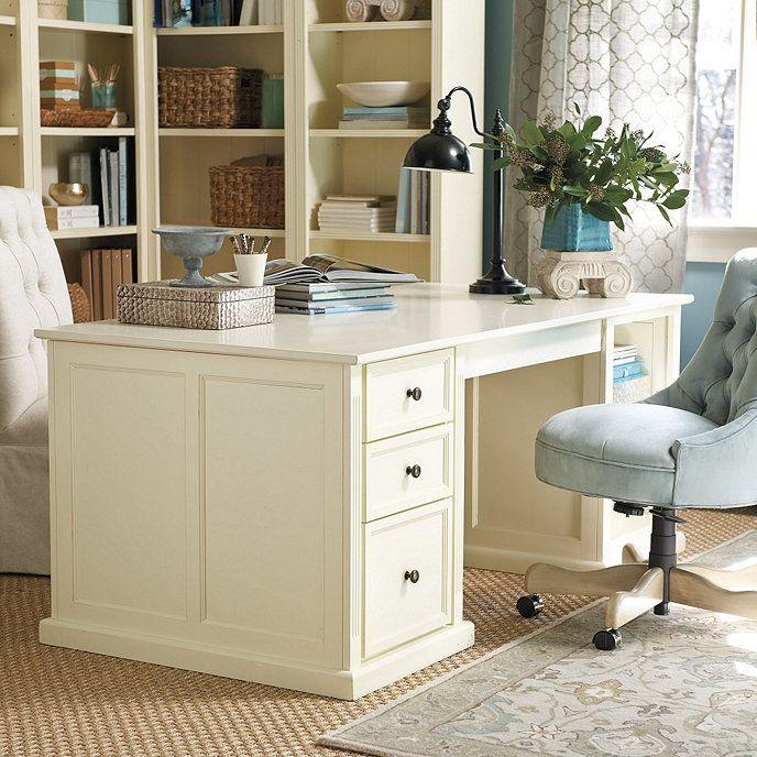 Tuscan Double Pedestal Desk | Ballard Designs