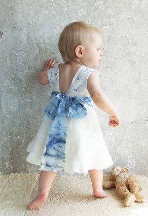 Nuno felting white ivory baby dress by Baymut on etsy by hevver