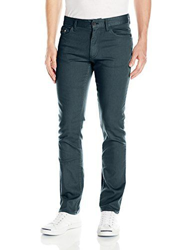 Calvin Klein Jeans Men's Slim Fit 5 Pocket Stretch Pant These slim fit stretch slub twill pants feature a classic 5-pocket design and a belt loop waistband.These slim fit pants with stretch feature five-pocket styling with signature omega stitch on back pocketButton with zip fly closureCalvin Klein Jeans logo patch on back waistband and above coin pocketThese versatile pants can be worn with anything from a t-shirt to a button down to a sweater for a modern look  5, 7 for a